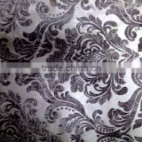 100% polyester burnout sofa fabric purple velvet