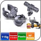 Wholesale Bicycle accessory cycle front lamp clip U-shape 90 Degree Rotatable Bike Bicycle light Clip