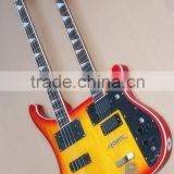 Weifang Rebon Double neck Ricken/RKB electric guitar in cherry sunburst colour
