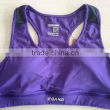 Confortable mesh fabric contrasting sports bra vest
