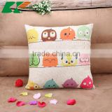2015 cotton and linen Cartoon cute bird sofa cushion cover American country creative pillowcase