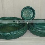 Bamboo double wall basket for sale, bamboo tray multi function, high quality basket