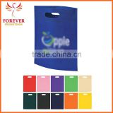 China Cheap Blank Shopping Bag Non-woven Punch Die Cut Tote Bag For Conference Exhibition For Sale