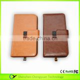 multifunctional 2 in 1 data transmission Leather charging case with USB wireless receiver function for iphone samsung