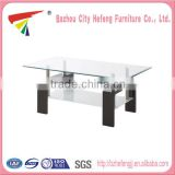 Beautiful Hot Sale glass and marble base coffee table