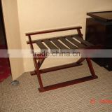solid wood luggage rack for hotels