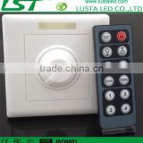 LED Lighting Intelligent Dimming Controller,With Infrared 12 Key Panel Dimmer,DMX LED Dimmer