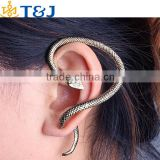 2015 Hot Selling Stud Earrings Retro Jewelry Fashion Exaggerate Individuality Punk style Snake Cuff Earrings For Women Jewelry&