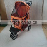 2015 pet prams with 3 point canopy with game entrance window,with good designs 4 wheels keep your pet safe and comfortable