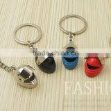 Fashion Silver Blue Red Jewelry Accessories Happy Birthday Gift Mini Wind Cover Helmet Keychain