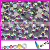 Wholesale Top quality nail rhinestones crystal ab non hotfix flat foiled back strass                                                                         Quality Choice