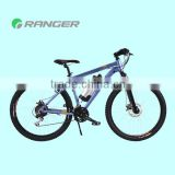 "2013 New design! 26""/350W/36V10Ah e-bike lithium bottle battery MTB electric mountain bike"