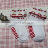 Custom New Design Cheap Lovely Baby Girls Fruits Sock
