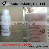 Chlorfenapyr 240g/L SC, Insecticide acaricide 240g/l SC 36% SC 10% SC 95% TC effcient safe and broad-spectrum new insecticide