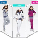 Hot Fall Fashion Womens Sport Suit Clothes Coat Sweater Hoodie Pants Velour Tracksuit L1276