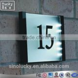 Acrylic Modern Door Numbering Wall Mount House Number room sign