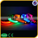 hot dog products led silicone dog collar, chain collar dog prices