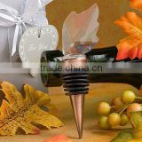 maple leaf crystal custom wine stopper for wedding gift