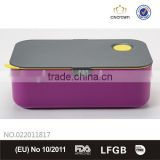 Rectangle Bento Lunch Box with Silicone Ring, Food Grade, FDA Approved, BPA Free , Eco-friendly Material by Cn Crown