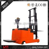 China made 1.5t 3500mm electric pallet stacker fork lifter
