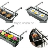 Multifunction bbq balcony hanging charcoal barbecue grill