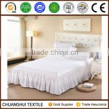 white color striped cotton fabric elastic fitted sheet for hotel