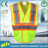 high quality construction vest for worker fluo yellow safety reflective vest cheap safety vest