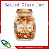 Promotional Airtight Tea Glass Jar With Cork Stopper