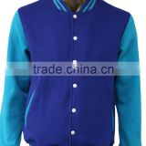 New Customize Letterman Varsity Jackets, blue and white Baseball Jackets, warm College Jackets