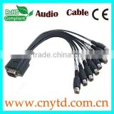 vga to sdi black color adapter 8 bnc cables