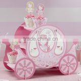 NEW Pink Princess Party Carriage Cake Stand Cake Stand Baby Shower Birthday Wedding Party Display