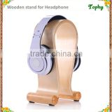 Factory wholesale wooden headset stand, Birch Wood Headphone Gaming Headset Display Stand Holder Hanger