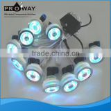 Free Standing Glass Whirlpool LED Air Bubble Light for Bathtub Air Massage LED Jet