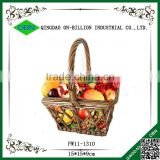 New design gift basket natural wicker fruit basket for decoration