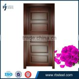 5 panels modern Bubinga solid wood door in China factory