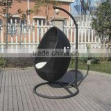garden wicker furniture hanging chair with stand