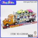 Classic friction 2 layer transport car toy car