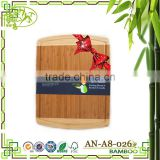 AONONG MOSO Bamboo Radian Corner Shape Cutting Board Kitchen Active Antibacterial Butcher Block