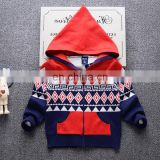 Latest design 12GG computer knitted cardigan sweater for boys
