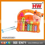 Hot Sale plastic toy music toy funny animal piano Knock harp