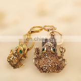 Fashion Crystal rhinestone beads mini toad keychain MCA-0312
