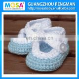 2014 Fashion Style Crochet baby booties! Crochet baby shoes! Baby girl shoes! Baby booties! Egg Blue and White