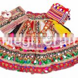 Indian Handmade Patchwork Gagra Choli- Indian embroidered Cotton Lehenga Choli- Ethnic rabari Work Chaniya Choli