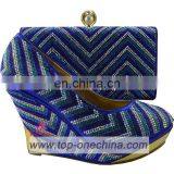 ladies italian shoe and bag/ wedding wedge shoe bags
