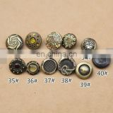 Bronze Snap Button Wholesale alloy Decorative button-Handmade DIY accessory metal button