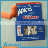 Promotional custom printed Safety ear plugs Foam Tapered Ear Plugs set