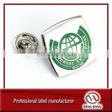 High Qulaity Promotion Business Gift Alloy Casted And Butterfly Clasp Type Custom Design Printed Metal Badge