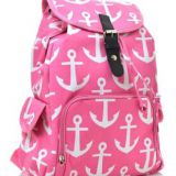 full printed pink soft backpack with high quality