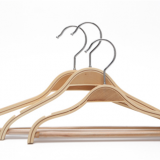 Popular Premium Laminated Plywood Hanger with Round Bar and square notch