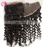 Qingdao hair factory Hot selling top brazilian hair deep curly lace frontal